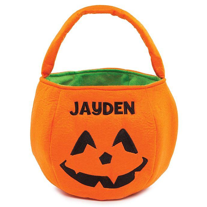 Alternate image 1 for Pumpkin Trick-Or-Treat Bag in Orange