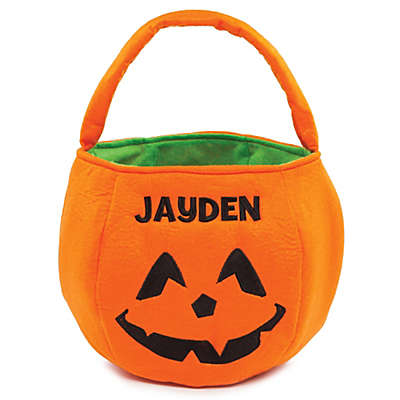 Pumpkin Trick-Or-Treat Bag in Orange