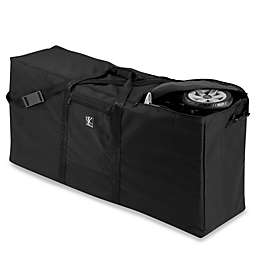J.L. Childress Black Stroller Carrier and Travel Bag for Standard/Dual Strollers