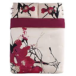 Kensie Blossom Full/Queen Duvet Cover Set in Peach