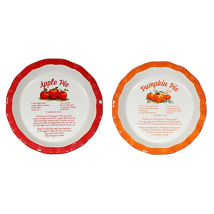 10 Inch Decorative Ceramic Pie Plate Bed Bath Amp Beyond