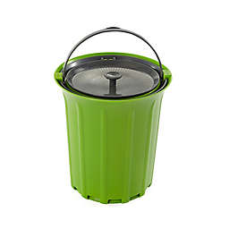 Full Circle Breeze .85 Gallon Countertop Compost Bin in Green/Slate