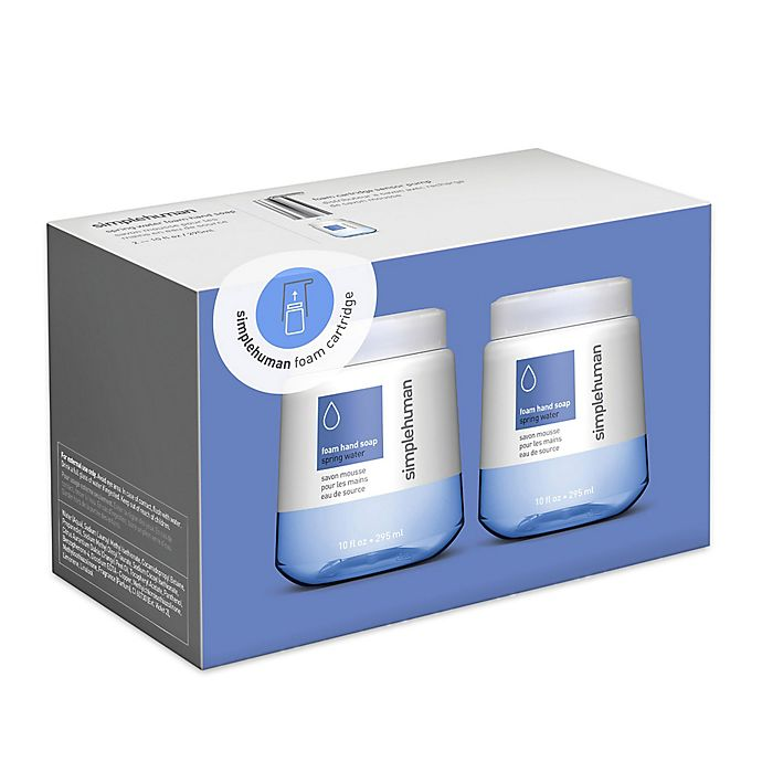 Alternate image 1 for simplehuman® 2-Pack Foaming Hand Soap 10 oz. Refill Cartridge
