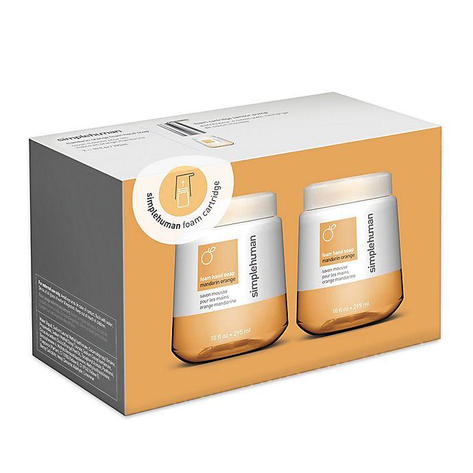 Alternate image 1 for simplehuman® 2-Pack Foaming Hand Soap 10 oz. Refill Cartridge in Mandarin Orange