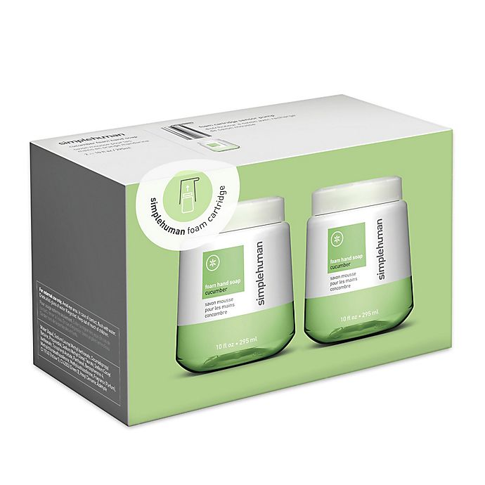 Alternate image 1 for simplehuman® 2-Pack Foaming Hand Soap 10 oz. Refill Cartridge in Cucumber