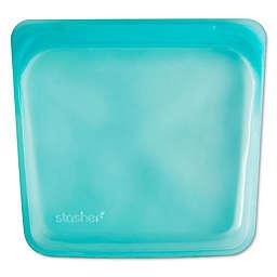 Stasher 15 oz. Silicone Reusable Sandwich Bag in Aqua