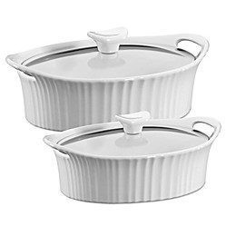 CorningWare® French White® Ceramic Oval Casserole