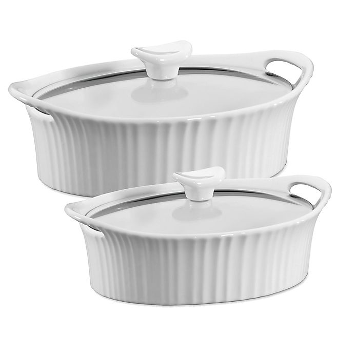 Alternate image 1 for CorningWare® French White® Ceramic Oval Casserole