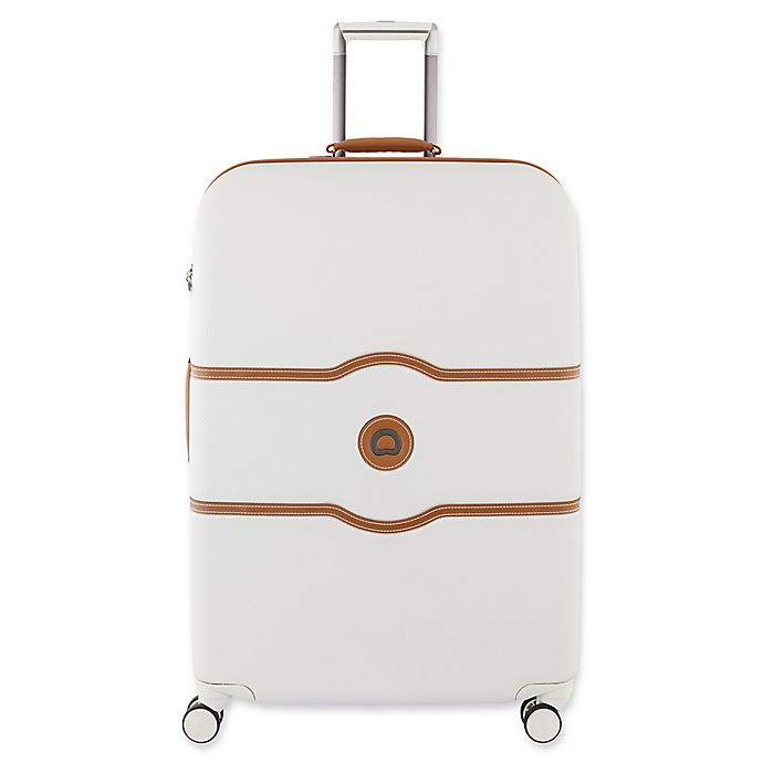 Alternate image 1 for DELSEY PARIS CHATELET+ 24-Inch Hardside Spinner Checked Luggage in Champagne