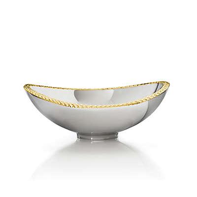 Nambe Braid Nut Bowl in Gold