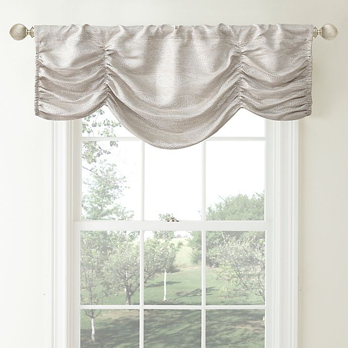 Alternate image 1 for Waterford® Linens Aria Ruched Window Valance in Natural