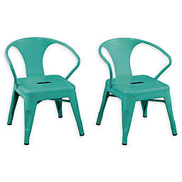 Acessentials® Stacking Activity Chairs in Teal (Set of 2)