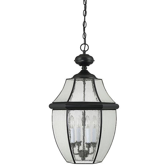 Alternate image 1 for Quoizel Newbury 3-Light Extra Large Hanging Lantern in Mystic Black
