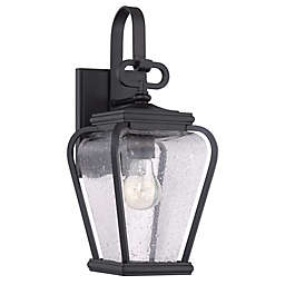 Quoizel Province Single-Light Wall Mount Outdoor Lantern in Mystic Black