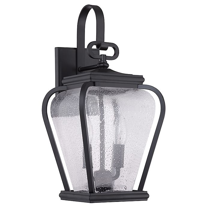 Alternate image 1 for Quoizel® Province 2-Light Wall Mount Outdoor Lantern in Mystic Black