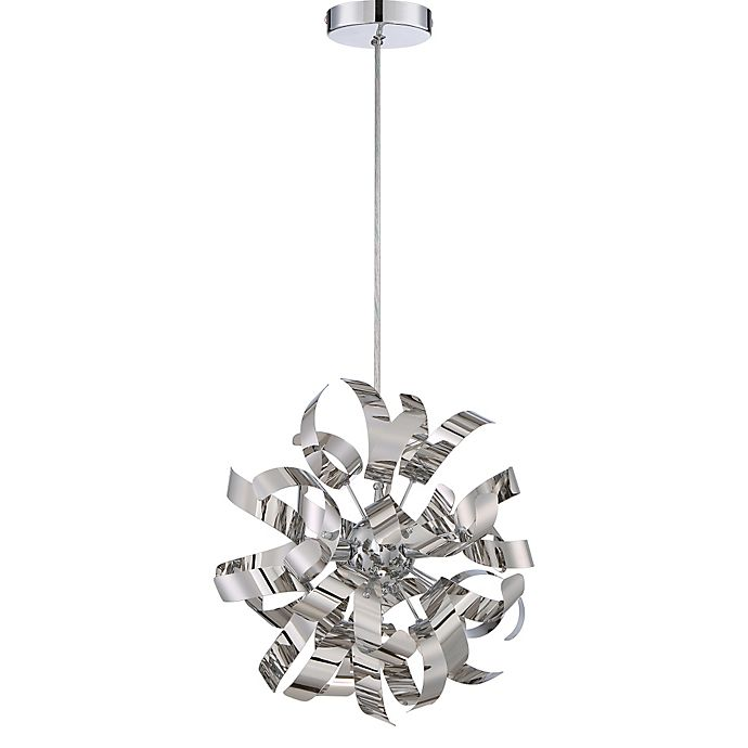 Alternate image 1 for Quoizel® Ribbons 3-Light Ceiling-Mount Mini-Pendant Light