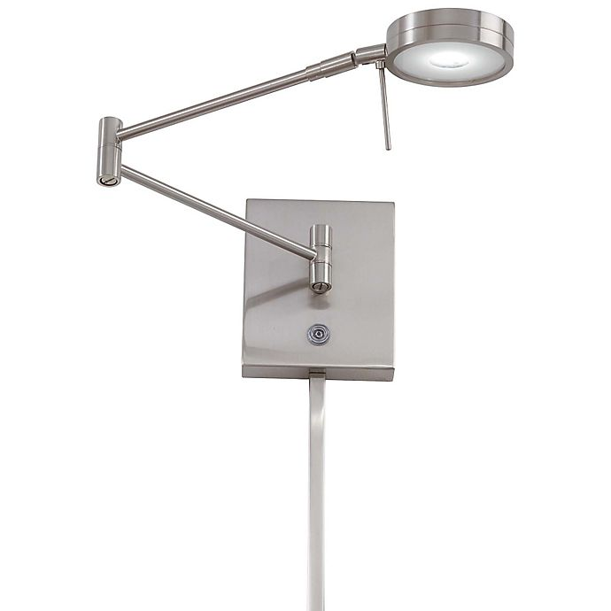 Alternate image 1 for George Kovacs® George's Reading Room™ 1-Light LED Swing Arm Wall Lamp in Brushed Nickel
