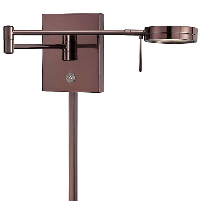 Alternate image 1 for George Kovacs® George's Reading Room™ 1-Light LED Swing Arm Wall Lamp in Chocolate