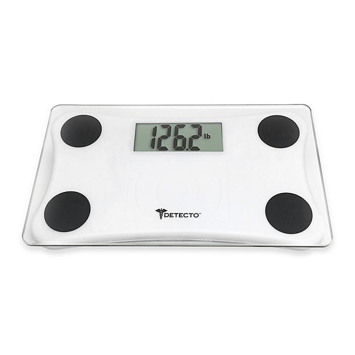 Detecto 174 Glass Lcd Digital Scale Bed Bath Amp Beyond