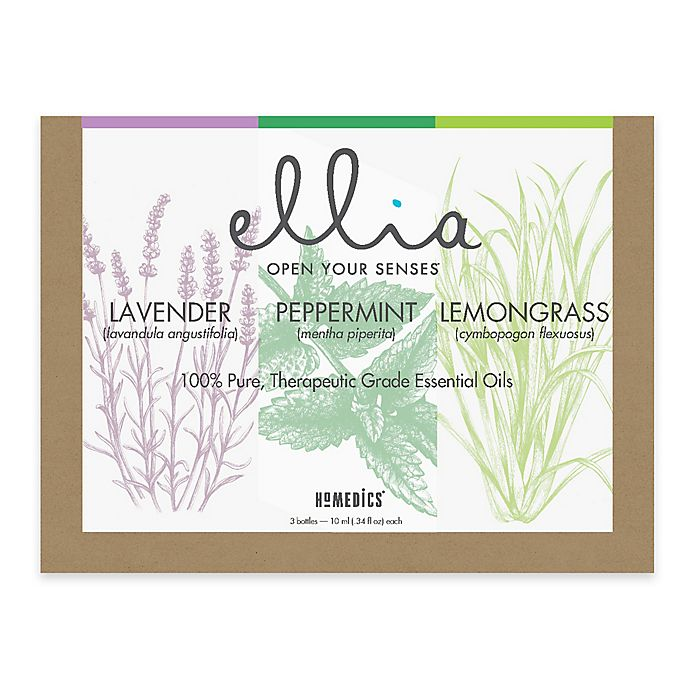 Alternate image 1 for Ellia Essential Oil: Single Essential Oils (Set of 3)
