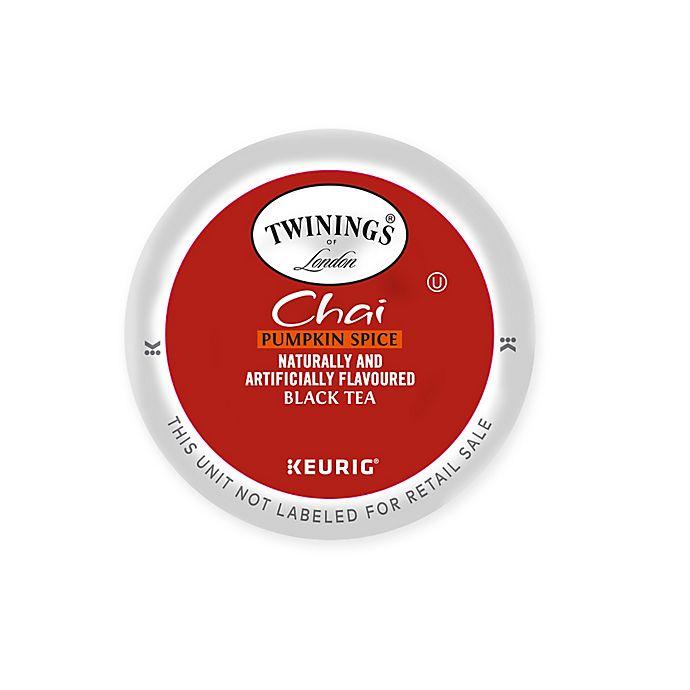 Alternate image 1 for Keurig® K-Cup® Pack 18-Count Twinings® of London Pumpkin Chai Spice Black Tea