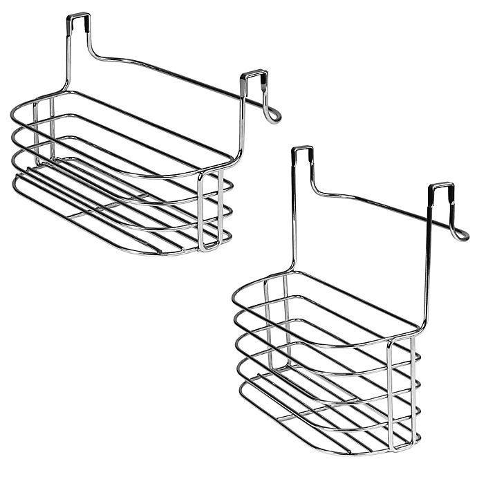 Alternate image 1 for Duo Over-the-Cabinet Towel Bar and Basket