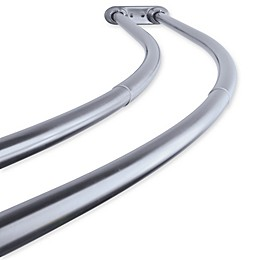 Kingston Brass Hotel Adjustable Double Curved Shower Curtain Rod