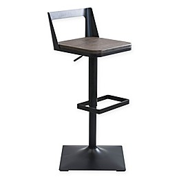 LumiSource Samurai Adjustable Bar Stool in Espresso