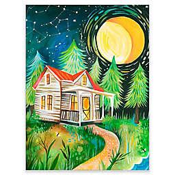 GreenBox Art Night Cabin Wheatpaste Wall Art