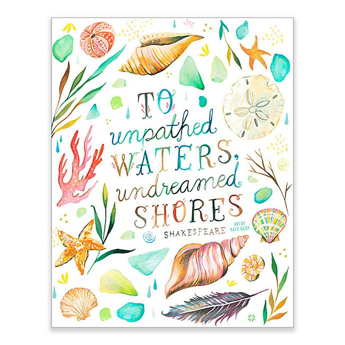 Alternate image 1 for GreenBox Art 28-Inch x 35-Inch Undreamed Shores Posters That Stick Wall Decals