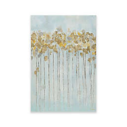 Madison Park Minted Forest Gel Coated Canvas with Gold Foiling Wall Art in Seafoam