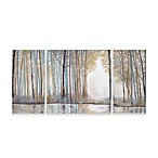 Madison Park Forest Reflections Gel Coated Canvas Wall Art (Set of 3)
