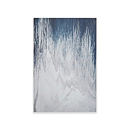 INK+IVY Abstracted Chevron Canvas with Heavy Gel Coat Wall Art in Navy