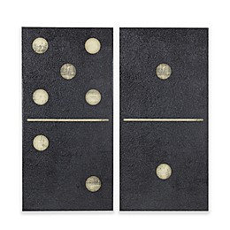 INK+IVY Black Dominos Gel Coat Printed on Canvas Wall Art (Set of 2)