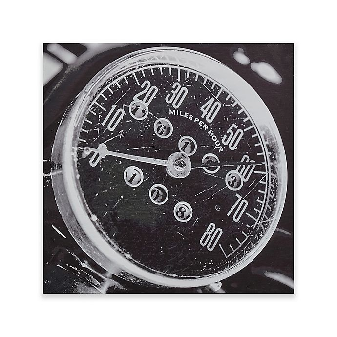 Alternate image 1 for INK+IVY Speedometer Box Wall Art in Grey