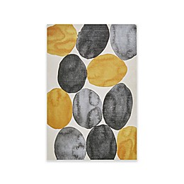 INK+IVY Amber Puzzle Gel Coat Printed Canvas Wall Art in Yellow