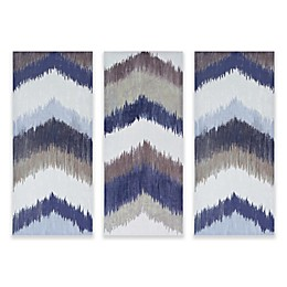 INK+IVY Alpine Gel Coated Canvas Wall Art in Navy (Set of 3)