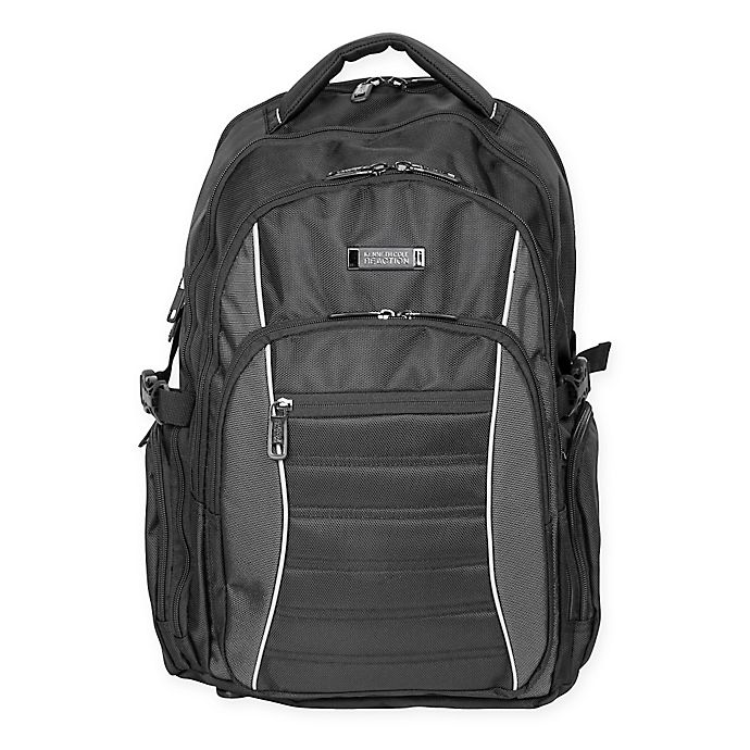 77a9a5864b8e Kenneth Cole Triple Compartment EZ-Scan Computer Backpack in Black ...