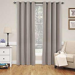 Eclipse Nadya 108-Inch Grommet Top Blackout Window Curtain Panel in Linen