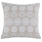Kensie Laramie 20-Inch Square Throw Pillow in Taupe