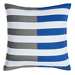 Southern Tide® Chino Americana Stripe Square Throw Pillow in Grey/Blue