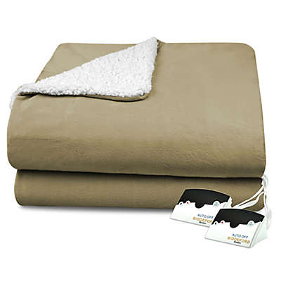 CBiddeford® Heated Comfort Knit with Sherpa Blanket