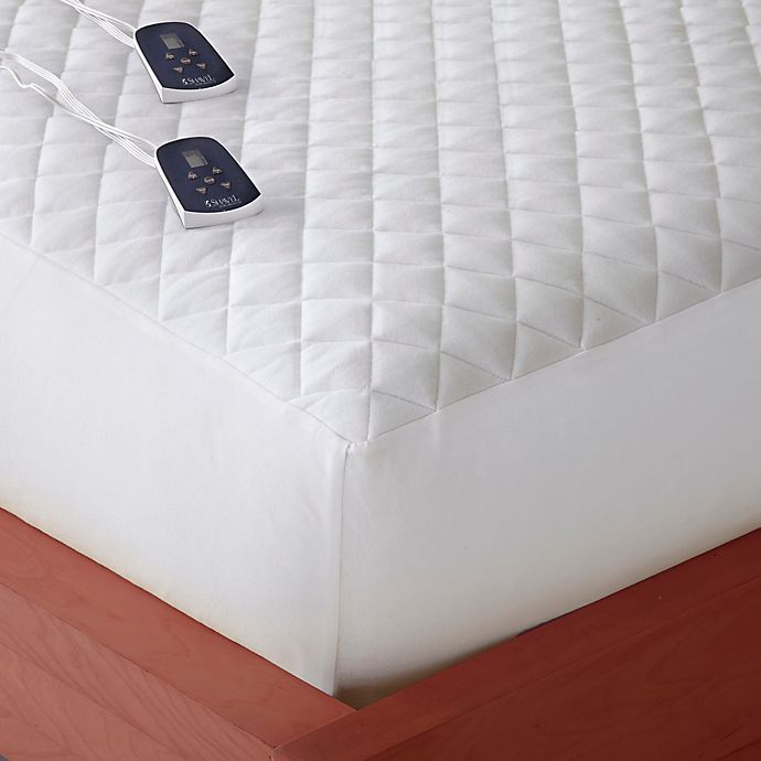 Alternate image 1 for Micro Flannel® Queen Electric Mattress Pad in White