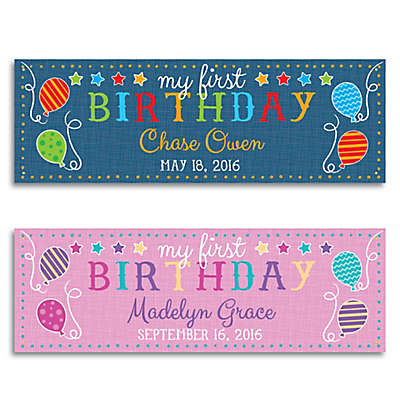 First Birthday Personalized Banner