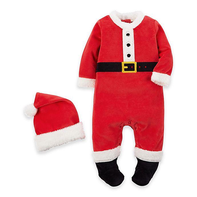 c165ce20c5648 carter s® 2-Piece Footed Velour Santa Suit