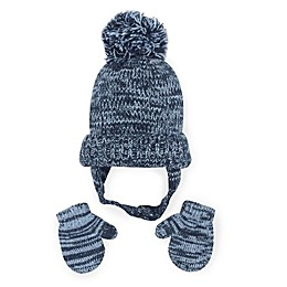 Toby™ Denim Pretwist 2-Piece Hat and Mitten Set