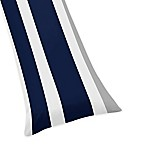 Sweet Jojo Designs Navy and Grey Stripe Body Pillow Case