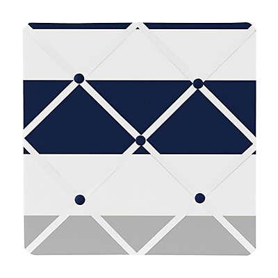 Sweet Jojo Designs Navy and Grey Stripe Memo Board