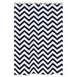 Sweet Jojo Designs Chevron Shower Curtain in Navy/White