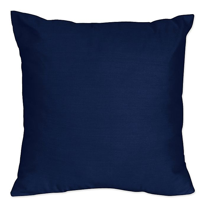 Alternate image 1 for Sweet Jojo Designs Navy and Grey Stripe Throw Pillow in Navy (Set of 2)